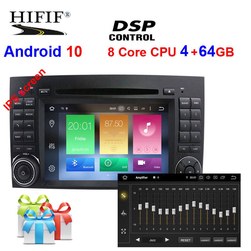 DSP Android10 4G/2G IPS 2 din DVD PLAYER Fü<font><b>r</b></font> Benz Sprinter B200 W209 W169 W169 W245 b170 Vito W639 Viano Sprinter <font><b>Crafter</b></font> LT3G image