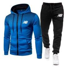 2021 bahar ve kış yeni erkek hoodie takım elbise marka spor kazak kapüşonlu takım elbise + sweatpants koşu erkek kazak 3XL spor