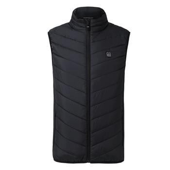 ZYNNEVA 2020 USB Powered Heated Vest Smart Electric Heating Jacket Men Women Waistcoat Winter Cycling Fishing
