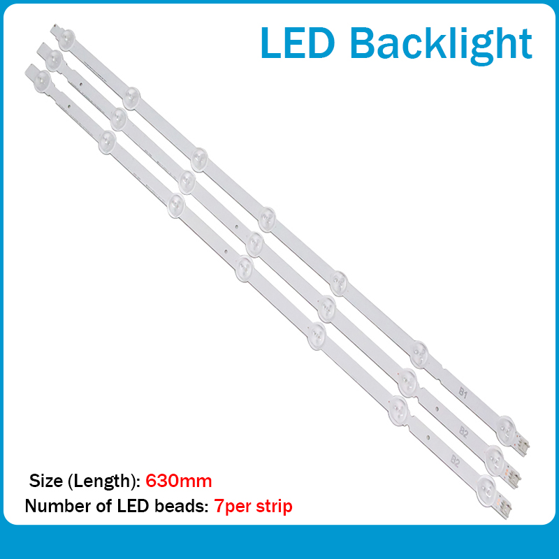3pcs/set 630mm LED Backlight Lamps Strips 7leds For LG B1 B2-Type V13 6916L-1437A 6916L-1438A 32 Inch TV 100% Brand New