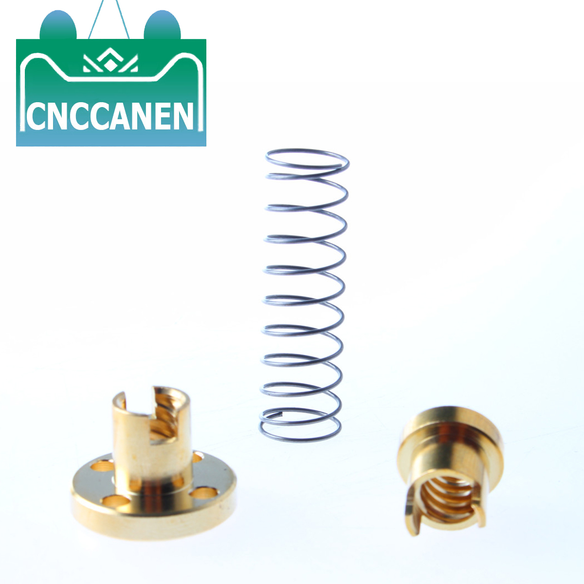 T8 Spring Loaded Anti Backlash Nut  Elimination Gap Nut For 8mm Acme Threaded Rod Lead Screws DIY CNC 3D Printer Parts