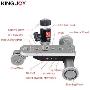 Image 5 - KINGJOY officiel PPL 06S Mini piste motorisée curseur Dolly voiture intemporel tête de bal panoramique pour téléphone caméra Time Lapse rotateur