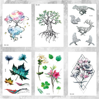 10 X 6 cm Forest tree small fresh waterproof temporary tattoo sticker