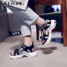 RIBETRINI Cool mixed-color Shoes New Hot Sale Brand Designer Women Sandals Summer Casual Flat