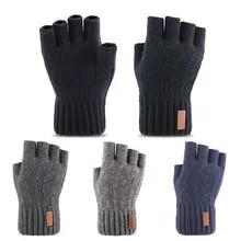 Fingerless-Gloves Knitted Half-Finger Winter Touch-Screen Warm Stretch Outdoor Unisex