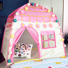 New Foldable Tipi Teepee Tent Folding Kids Ball Pool Wigwam For Children Princess Boys Girls Toys Play House Room Out Door Games