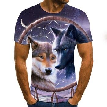 Camiseta con estampado 3d de animales para hombre y mujer de camiseta...