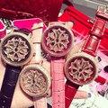Новинка 2020, женские часы, женские блестящие вращающиеся нарядные часы с большим бриллиантовым камнем, наручные часы, женские часы из натура...