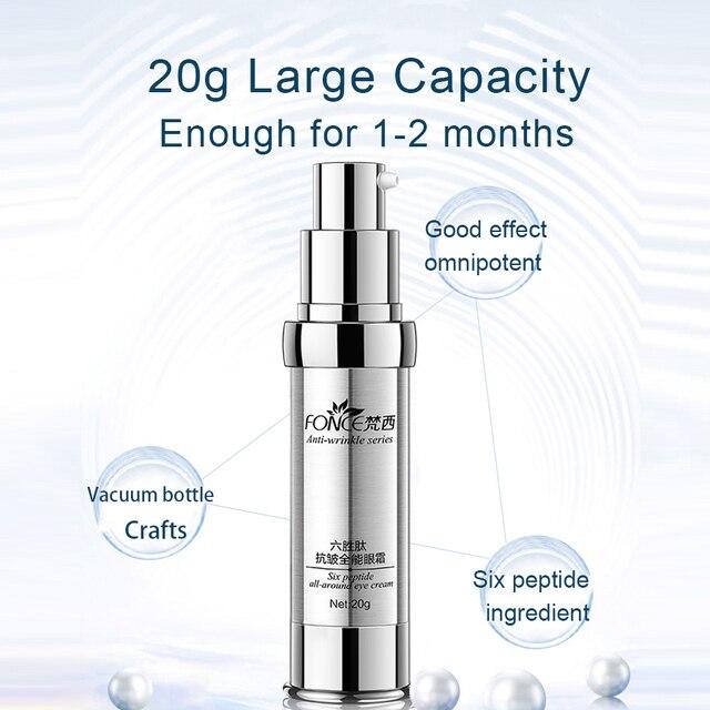 Korean Skin Care Anti Wrinkle Eye Cream Six Peptides Serum Anti Aging Remover Dark Circle Bag Firming nourish eye Balm Mask 20g 3