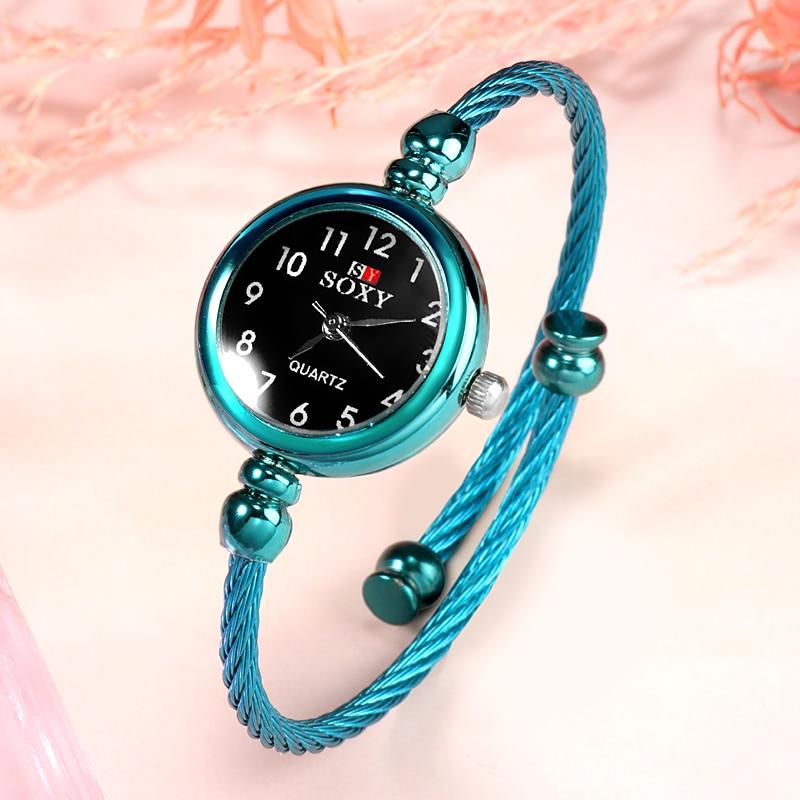 SOXY Peacock Blue Women's Bracelet Watches For Women Luxury Ladies Watch 2019 Full Steel Relogio Feminino NEW Wristwatch