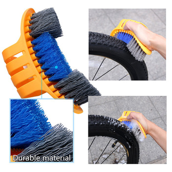 HOT Portable Bicycle Cleaning Chain Brush Washing Tool Gear Garbage Brush Cleaner Mountain Bike Cleaning Kit Bicycle Accessorie bicycle large brush chain cleaning brush tooth plate chain cleaning equipment three sides large brush