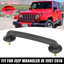 X Autohaux Fit for Jeep Wrangler JK 1997-2018 Strap Hood Windshield Hold Down Bracket Hood Loop 55176422