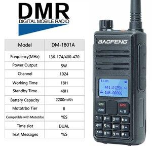 Image 2 - Baofeng DM 1801A Talkie walkie Double Créneau Horaire DMR Niveau I & II Radio Analogique Double Bande 136 174/400 470MHz Chasse DM 5R Plus