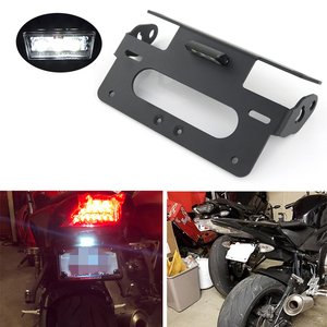 For BMW S1000RR 2009-2018 S1000R 2014-2019 Motorcycle Rear Tail Tidy License Plate Holder Fender Eliminator kit Black Aluminum(China)