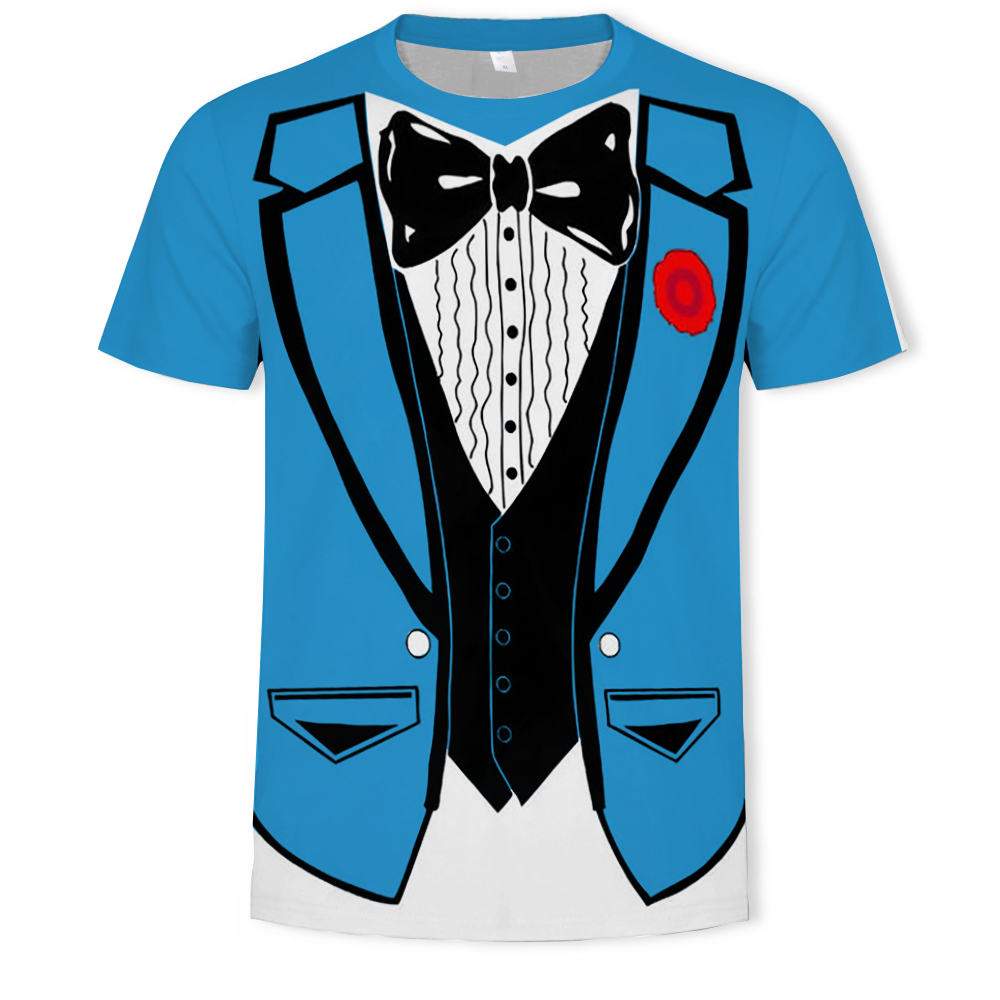2019 Hot Cheap Men T-shirt Tuxedo T Shirts 3D Print Funny Top Tees Short Sleeve Camisetas Summer Tshirt Plus Size S-6XL