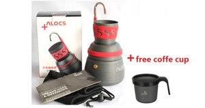 ALOCS Alocs портативная горелка для кемпинга и походов, кофейник и кофейник, набор для путешествий, бесплатная доставка, 2019