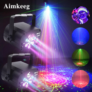 2020 New LED Stage Light Disco Laser Projector With Remote Control  Professional Stage Lighting Effect for DJ Music Party Lamp