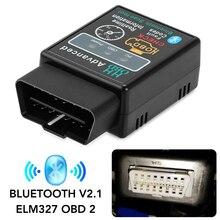 V2.1 Mini Elm327 obd2 scanner OBD car diagnostic tool for Honda Civic Accord Fit Peugeot 307 206 407 308 Citroen C4 C5