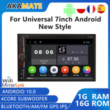 2 din Android 10.0 Car Radio Car Vdeo Players FM/AM Bluetooth GPS  MP5 Player 1 16G 2 Din Stereo Receiver Android Radio