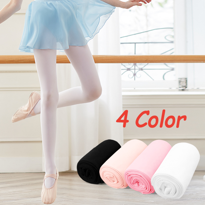 New Arrival Pink Kids Girls Dance Ballet Tights Soft Microfiber Socks Proffessional Dance Leggings