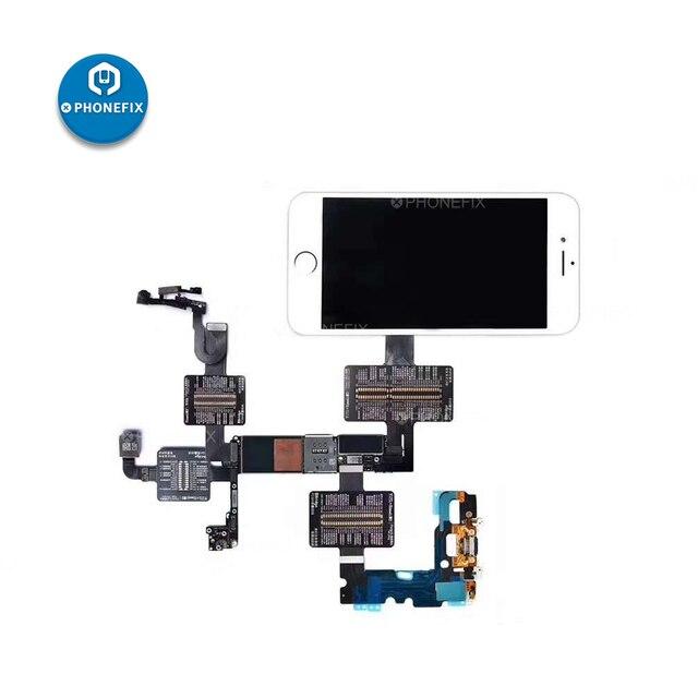 QIANLI iBridge FPC מבחן כבל עבור iPhone 6/6P/6S/6SP/7/7P/8/8P/X האם PCB בדיקת תקלה קדמי אחורי מצלמה טביעות אצבע