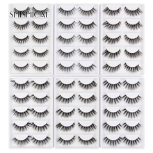 SHISHICAI 5 Pairs/Pack Faux Eyelashes Handmade Natural Long 3D Mink Lashes Full Strip Eye Extension Makeup Beauty