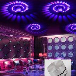 [DBF]Modern LED Ceiling Light 3W RGB Porch Lamp Surface Mount Flush Lighting Fixture Balcony Corridors Living Room KTV Bar Decor