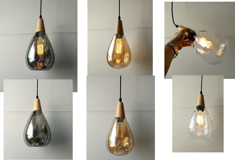 US $42.09 8% OFF|Lukloy Water Drop Industrial Retro Led Pendant Lights  Hanglamp Hanging Kitchen Light Fixture Led Pendant Lighting Pendant Lamp-in  ...