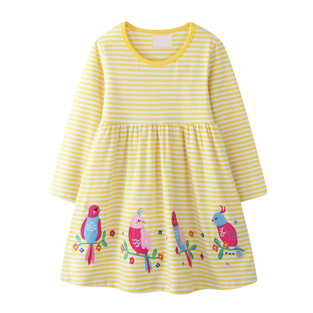 VIDMID Baby Girls Dress Long Sleeve Princess unicorn Dress Children cotton cute Kids Party Dresses Baby Girls Clothes W01 4