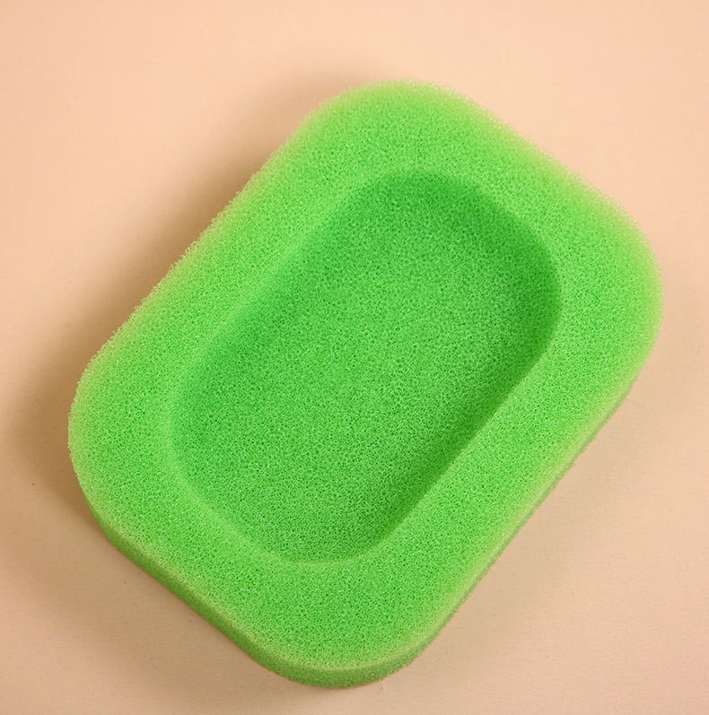 Поднос для мыла для ванной комнаты, впитывающая губка, мыльница, держатель для слива, диспенсер для ванной комнаты, домашний отель, горячая вода - Цвет: A