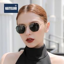 KATELUO 2020 Square Sunglasses Women Polarized UV400 Len Sun