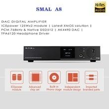 SMSL A8 Hi-Res HIFI Headphone Amplifier DAC Decoder DSD AK4490+TPA6120 XMOS Solution HIFI Audio Digital USB DAC