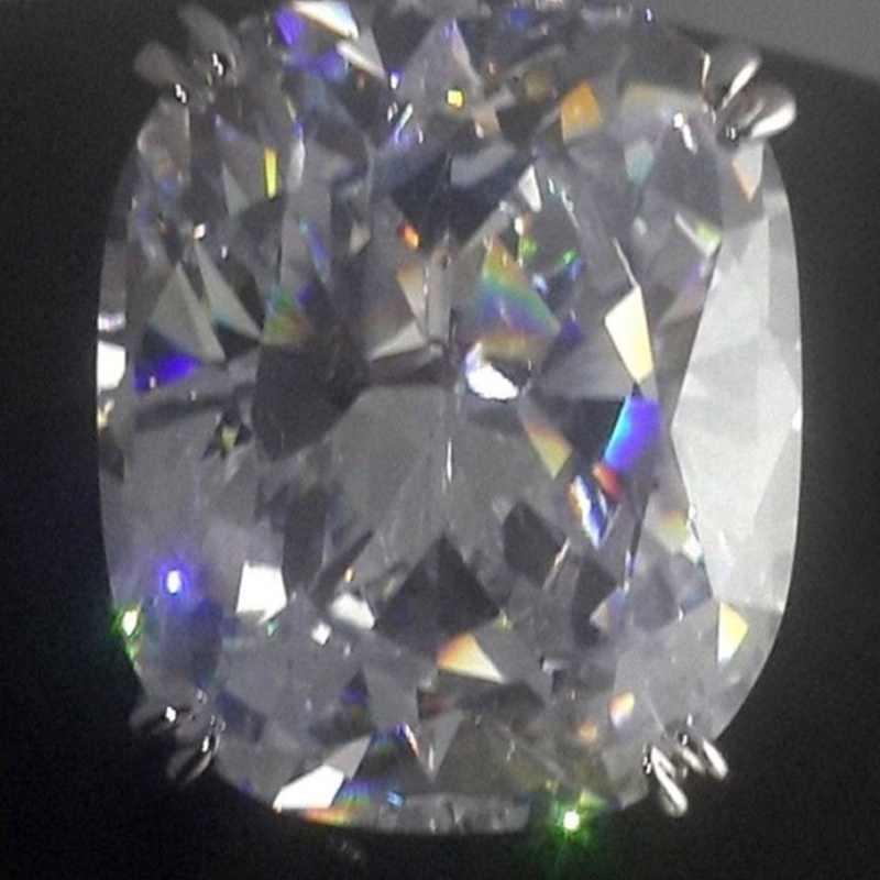 Moda luksusowy biały srebrny cyrkon pierścień pani elegancki duży AAA cyrkon owalny Rhinestone obrączka ślubna biżuteria