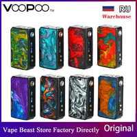 Original VOOPOO glisser 2 177W boîte Mod puissance par batterie 18650 e-cigs Vape Mod VooPoo Mod Vs Gen Mod/Shogun Univ/glisser 157W