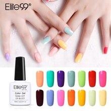 Elite99 10 мл цвет Макарон гель лак замачиваемый УФ-гель для ногтей Полупостоянный DIY Дизайн ногтей маникюр гель лак для ногтей