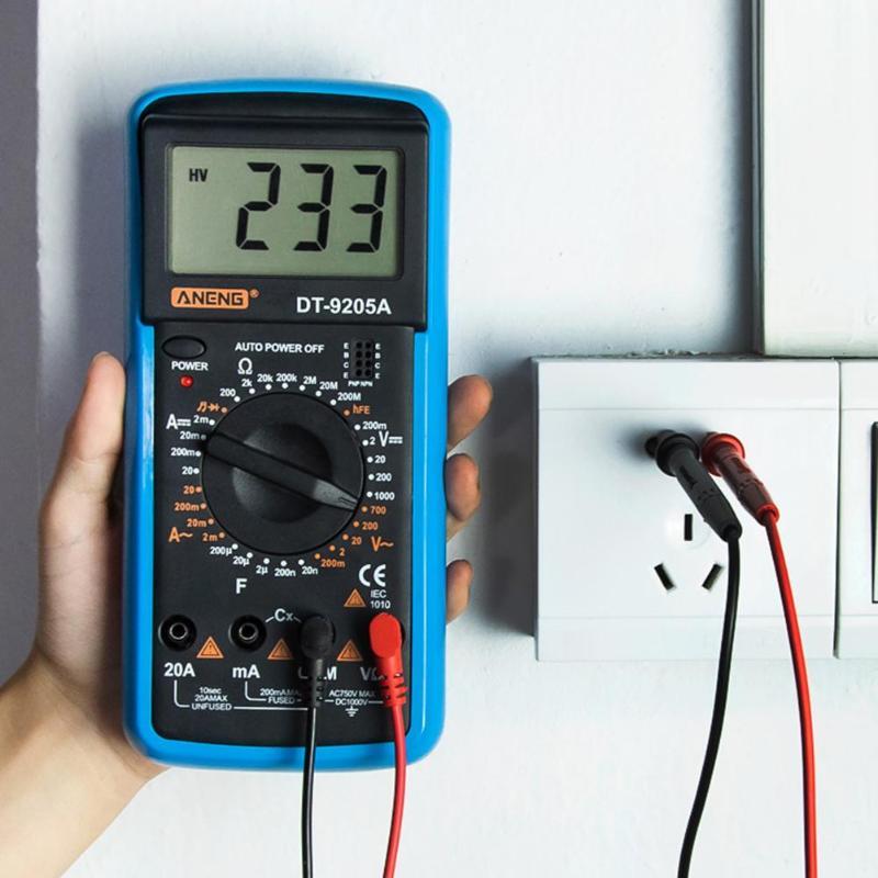 Intelligent Multimeter Digital Display Ohmmeter Voltmeter Capacitance Resistance Tester Portable Electrical Instruments