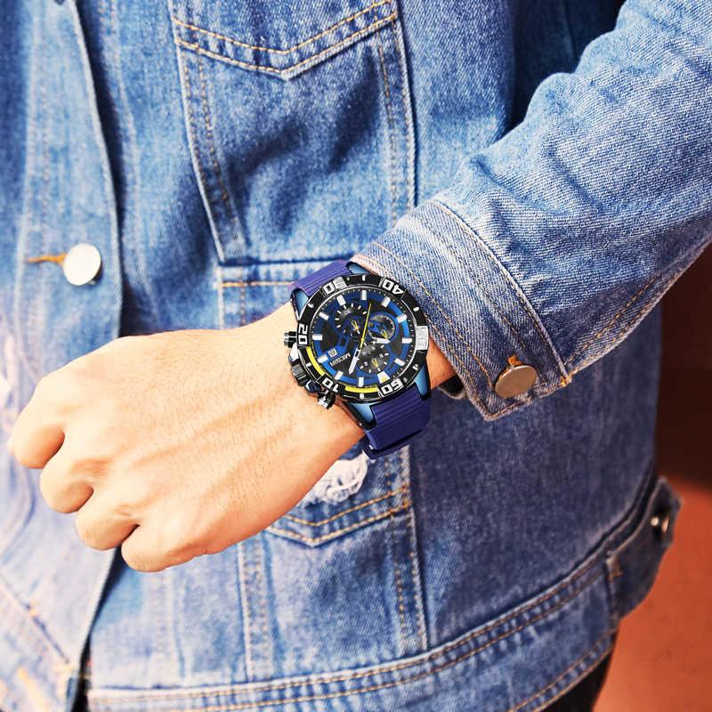 MEGIR часы лучший бренд класса люкс Модные Аналоговые Кварцевые мужские спортивные часы мужские s водонепроницаемые бизнес Дата наручные часы Relogio Masculino