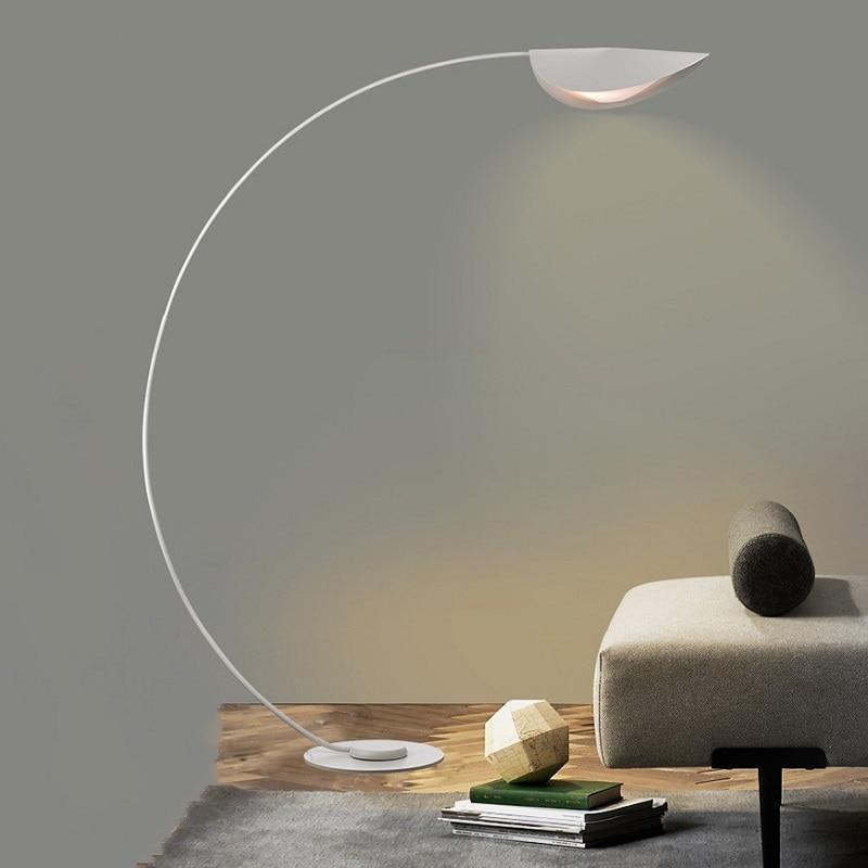 Nordic Modern Arc Led Floor Lamp Iron, Floor Standing Lamps For Living Room