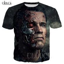 Новейшая Мужская/женская футболка с 3d принтом фильма Терминатор
