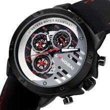 Мужские кварцевые часы мужские водонепроницаемые маленькие три