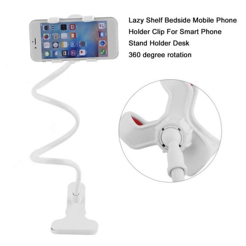 Uniwersalny elastyczny uchwyt ramię leniwy telefon komórkowy gęsiej szyi stojak uchwyt stenty elastyczne łóżko biurko stół klips wspornik na telefon komórkowy