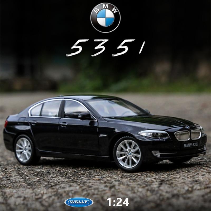 WELLY 1:24 BMW 535i Black  Car Alloy Car Model Simulation Car Decoration Collection Gift Toy Die Casting Model Boy Toy