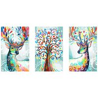 Set of 3 Special shape 5D Diamond Painting Kit for Adult Full Drill Paint with Diamonds Pictures Arts Craft for Home Decor , Col