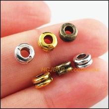 80 pçs retro tibetano prata antiquado ouro bronze tom redondo tubo espaçador contas encantos 6mm