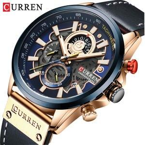Новый бренд CURREN Роскошные Мужские Аналоговые кожаные спортивные часы мужские армейские часы Мужские кварцевые наручные часы Masculino