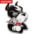 Price for 150 pieces,GUGUTREE towel embroidery big dogs patch animal cartoon patches badges applique patches for clothing FD-139