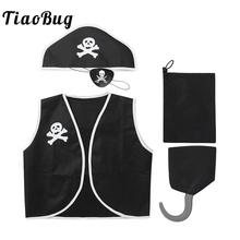 Pirate Costume Dress-Up Anime Cosplay Halloween Black Kids Tiaobug Children Boys