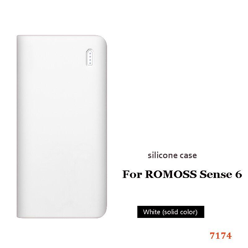 Силиконовый чехол для romoss sense 6, 20000 мА/ч, мобильный, мощный, мягкий, силиконовый, анти-столкновения, противоскользящий чехол, мобильный, мощный, кожаный чехол - Цвет: 2