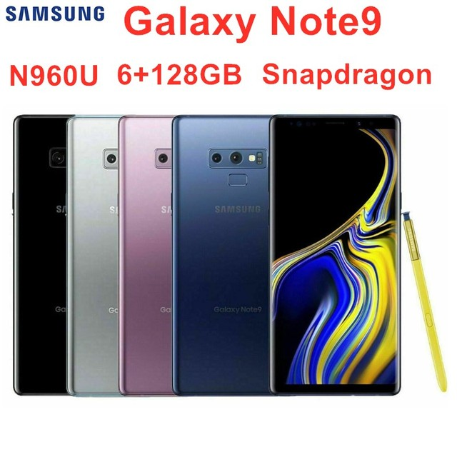 Samsung Galaxy Note9 Note 9 N960U N960U1 ROM 128GB RAM 6GB Original LTE Octa Core 6.4″ Dual 12MP NFC Snapdragon 845 Mobile Phone Mobile Phones & Accessories