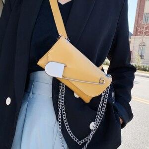 Женская сумка-мессенджер из искусственной кожи с застежкой на груди, мини-сумка через плечо 2020, Женская дорожная сумка с цепочкой для телефо...